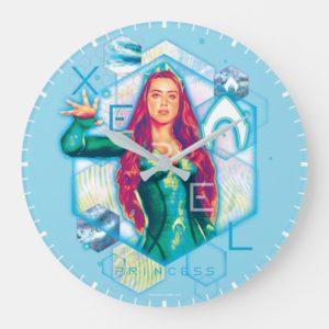 Aquaman   Xebel Princess Mera Hexagonal Graphic Large Clock