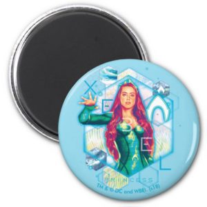 Aquaman | Xebel Princess Mera Hexagonal Graphic Magnet