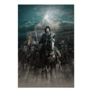 Aragorn Leading on Horse Poster
