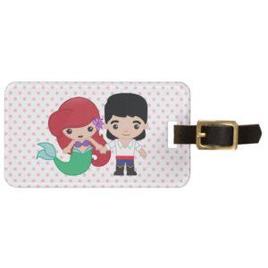 Ariel and Prince Eric Emoji Bag Tag