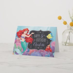 Ariel | The Little Mermaid | Chalkboard Birthday Card