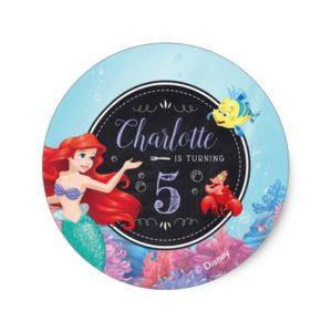Ariel | The Little Mermaid - Chalkboard Classic Round Sticker