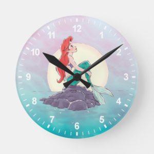 Ariel | The Little Mermaid - Pearlescent Princess Round Clock