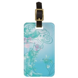 Ariel | Watercolor Outline Luggage Tag