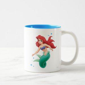 Ariel with Bubbles Two-Tone Coffee Mug