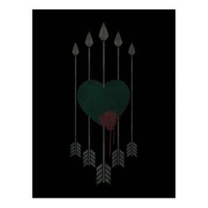 Arrow | Arrows Shot Through Heart Postcard