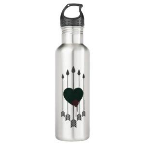 Arrow   Arrows Shot Through Heart Stainless Steel Water Bottle