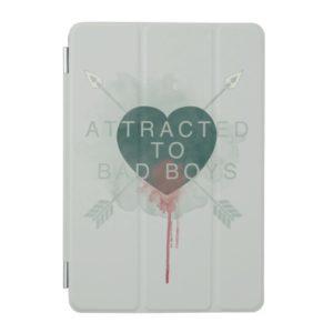 "Arrow   ""Attracted To Bad Boys"" Pierced Heart iPad Mini Cover"