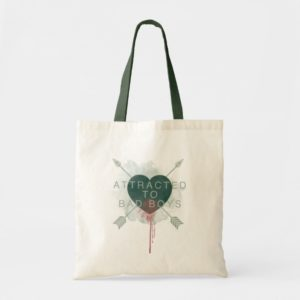 "Arrow | ""Attracted To Bad Boys"" Pierced Heart Tote Bag"