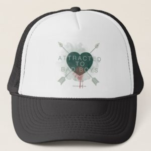"Arrow | ""Attracted To Bad Boys"" Pierced Heart Trucker Hat"