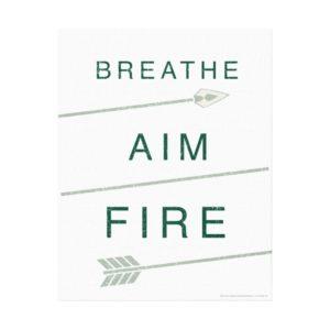 Arrow | Breathe Aim Fire Canvas Print