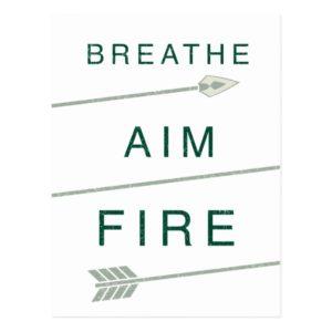 Arrow | Breathe Aim Fire Postcard