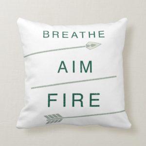Arrow | Breathe Aim Fire Throw Pillow
