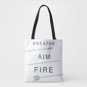 Arrow | Breathe Aim Fire Tote Bag