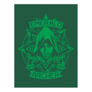 Arrow | Emerald Archer Graphic Postcard