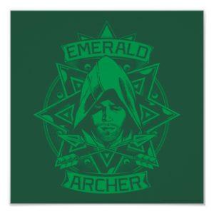 Arrow | Emerald Archer Graphic Poster