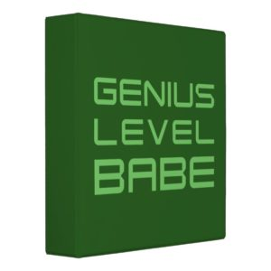Arrow | Genius Level Babe 3 Ring Binder