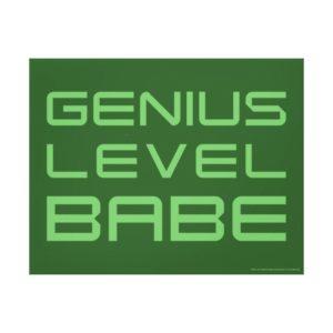 Arrow | Genius Level Babe Canvas Print
