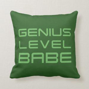 Arrow | Genius Level Babe Throw Pillow