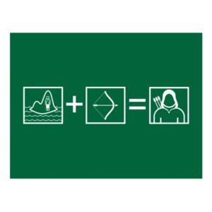 Arrow | Green Arrow Equation Postcard