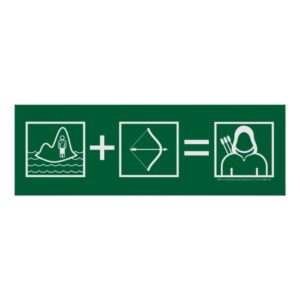 Arrow | Green Arrow Equation Poster