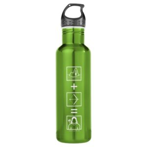 Arrow | Green Arrow Equation Stainless Steel Water Bottle