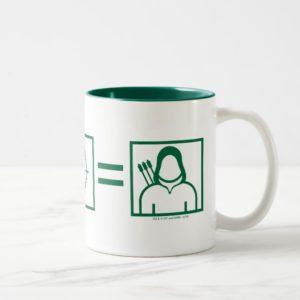 Arrow | Green Arrow Equation Two-Tone Coffee Mug