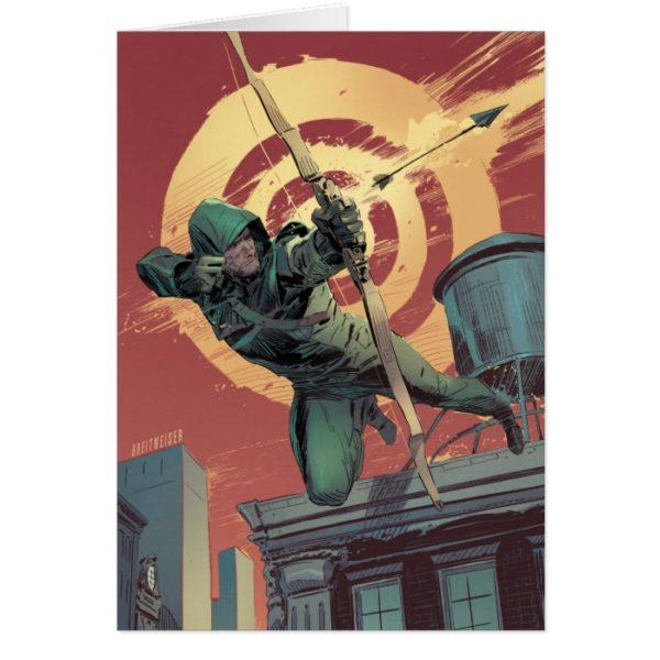 Arrow   Green Arrow Fires From Rooftop