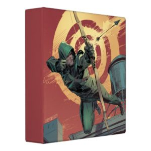Arrow | Green Arrow Fires From Rooftop 3 Ring Binder