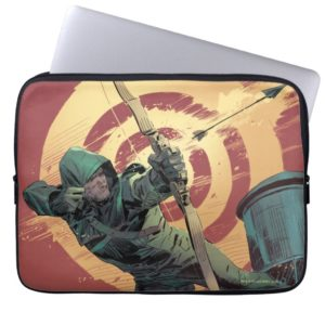 Arrow | Green Arrow Fires From Rooftop Computer Sleeve