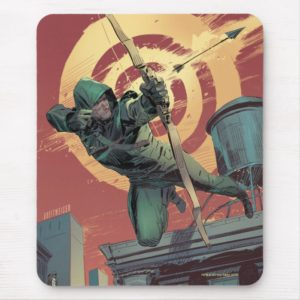 Arrow   Green Arrow Fires From Rooftop Mouse Pad