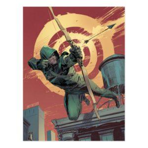 Arrow | Green Arrow Fires From Rooftop Postcard