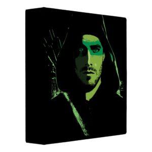 Arrow | Green Arrow Green Stylized Cutout 3 Ring Binder