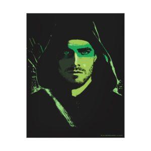 Arrow | Green Arrow Green Stylized Cutout Canvas Print