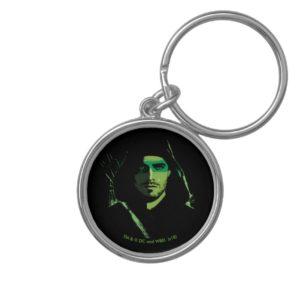 Arrow   Green Arrow Green Stylized Cutout Keychain