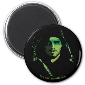 Arrow   Green Arrow Green Stylized Cutout Magnet