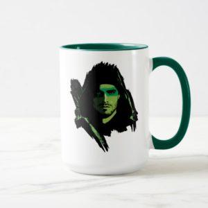 Arrow | Green Arrow Green Stylized Cutout Mug