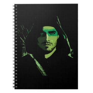 Arrow | Green Arrow Green Stylized Cutout Notebook