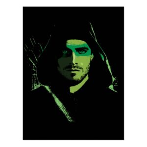 Arrow | Green Arrow Green Stylized Cutout Postcard