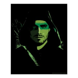 Arrow | Green Arrow Green Stylized Cutout Poster