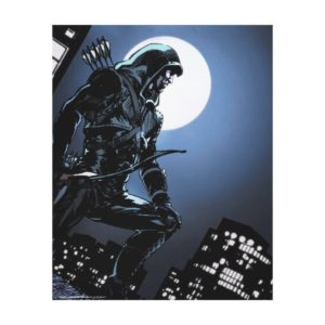 Arrow | Green Arrow In Moonlight Canvas Print
