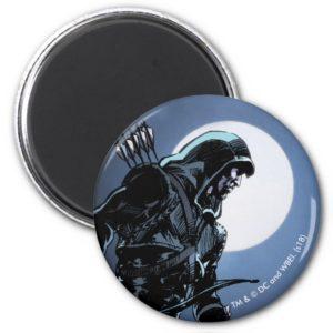 Arrow   Green Arrow In Moonlight Magnet