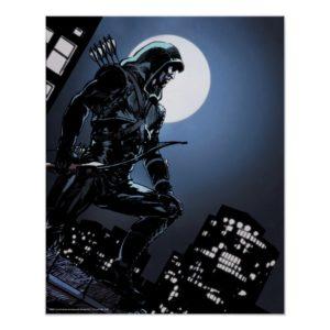 Arrow | Green Arrow In Moonlight Poster