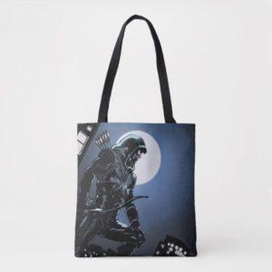 Arrow | Green Arrow In Moonlight Tote Bag