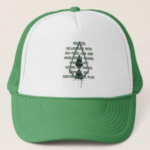 Arrow   Green Arrow Parody Wanted Post Trucker Hat