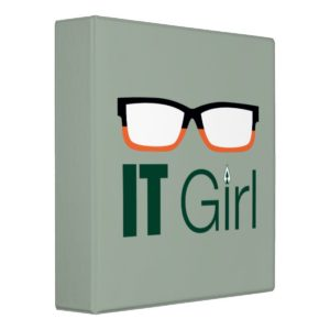 Arrow   IT Girl Glasses Graphic 3 Ring Binder