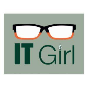 Arrow | IT Girl Glasses Graphic Postcard