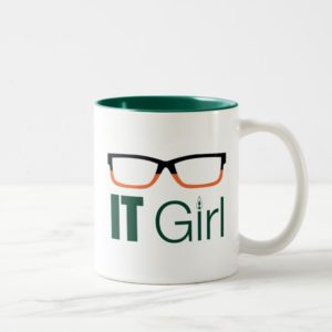 Arrow | IT Girl Glasses Graphic Two-Tone Coffee Mug