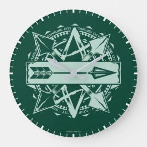 Arrow   Starling City Arrow Badge Large Clock