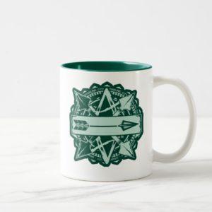 Arrow | Starling City Arrow Badge Two-Tone Coffee Mug
